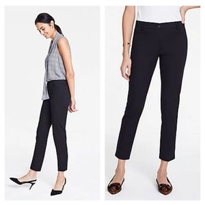 Ann Taylor Cotton Crop Ankle Pant in Atlantic Navy
